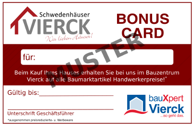 bauXpert Vierck Bonus Card