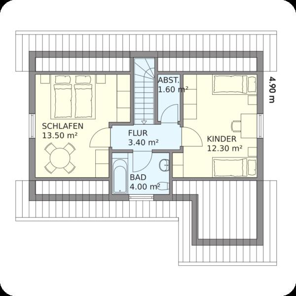 Schwedenhaus Braunlage Grundriss Dachgeschoss