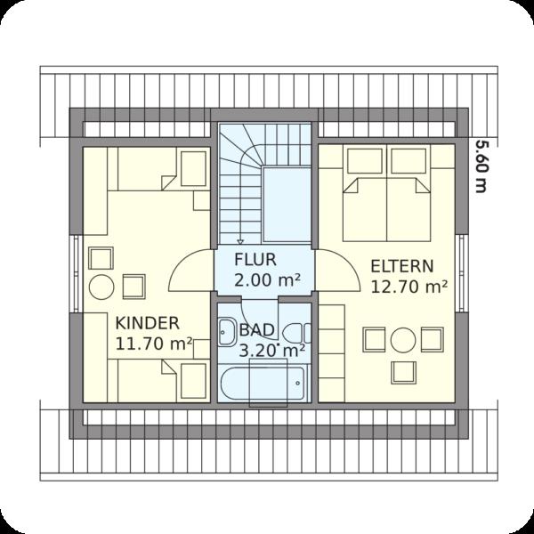 Schwedenhaus Cuxhaven Grundriss Dachgeschoss