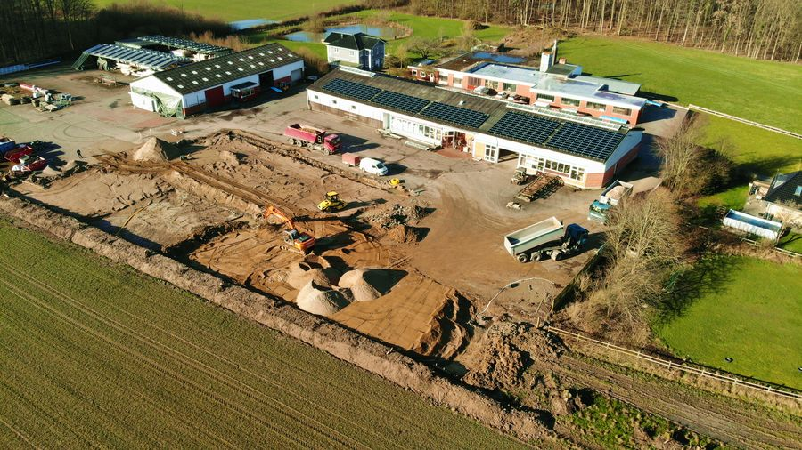 Baubeginn der neuen Produktionshalle von VIERCK Schwedenhäuser