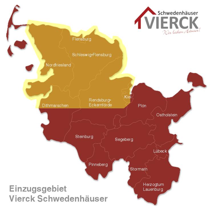 Landkarte Einzugsgebiet Vierck Schwedenhäuser