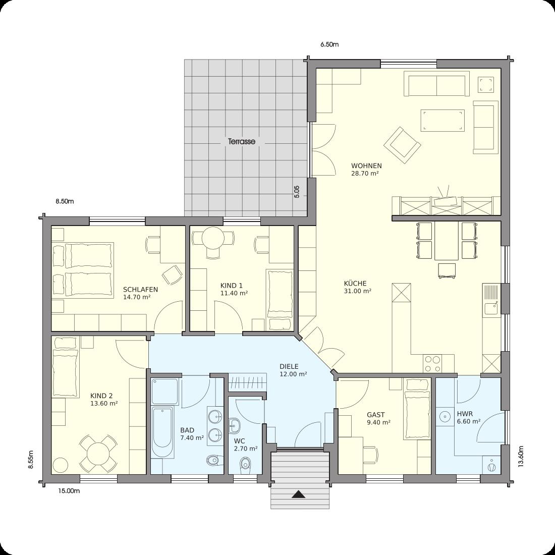 Schwedenhaus grundriss  Haus Jever - Wohnfläche: 137 m² | VIERCK Schwedenhäuser