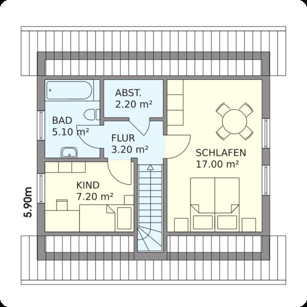 Schwedenhaus Kappeln Grundriss Dachgeschoss
