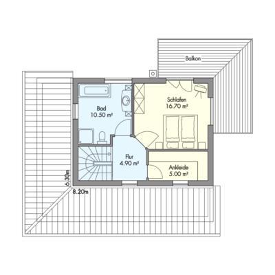 Schilksee Obergeschoss Grundriss