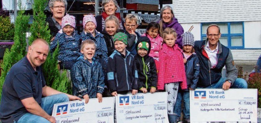Spende für Söruper Kindergärten