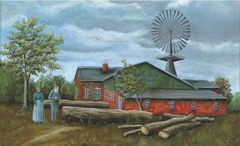 Vierck Sägewerk vor 100 Jahren